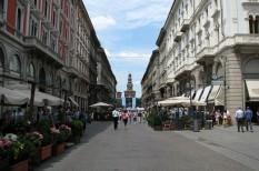 gyalogos, kerékpár, közlekedés, olaszország