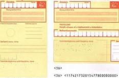 infokommunikació, posta, sárga csekk