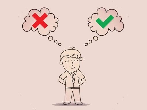ember gondolkodik jó és rossz között