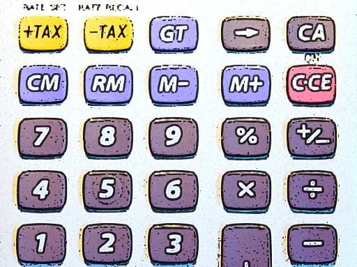 számológép tax felirattal