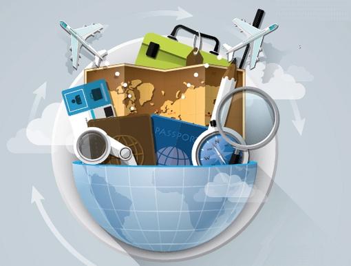 utazási szolgáltatások grafika