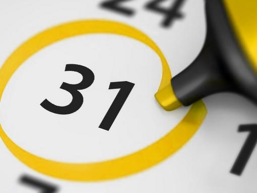 naptár 31-i dátummal