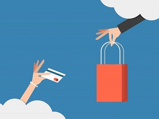 online vásárlás illusztráció