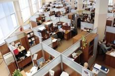 egyterű iroda, koncentráció, munkahely, nagyterem, védekezés