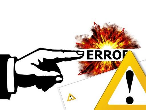 error felirat, vészjelző tábla