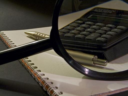 könyvviszgálat, nagyítón keresztül figyeljük a könyvelkést