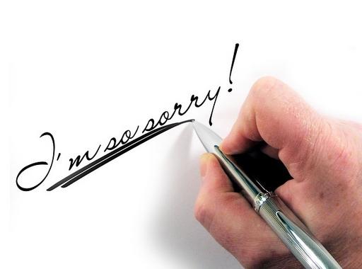 bocsánatkérő üzenet