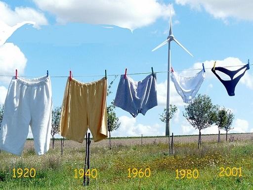 globális felmelegedés egyre kisebb fürdőruhák lógnak a ruhaszárítón
