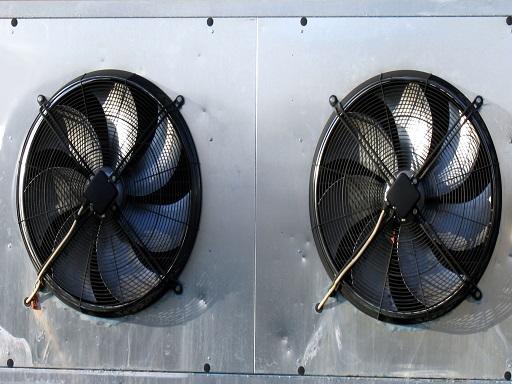 Klímaberendezés ventillátora forog