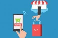 csatlakozás, e-kereskedelem, mobil, vásárlás