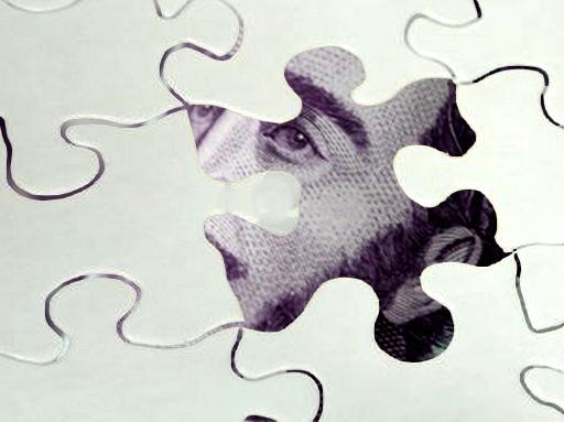 Ötezeres kossuth kinéz a puzzléből