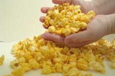 élelmiszer, műanyag, pizza, popcorn, veszély