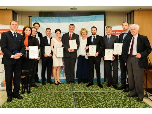 A 2015. évi díjazottak és az Üzleti Etikai Díj alapítói