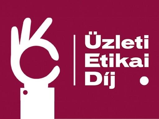 üzleti etikai díj logó