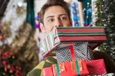 ajándék, stressz, ünnepi vásárlás, üzlet, vásárlás, web