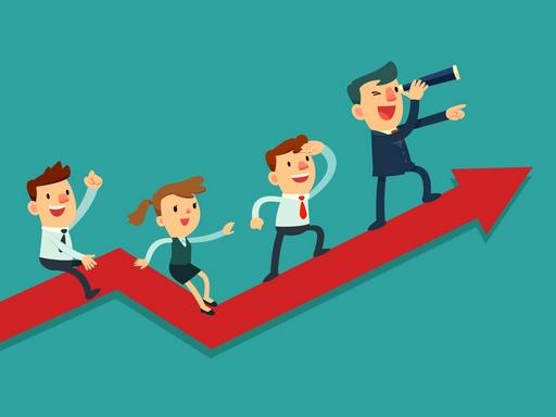 távcsővel az irányt kereső vállalkozó