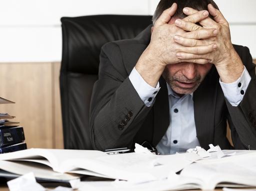 fáradt üzletember