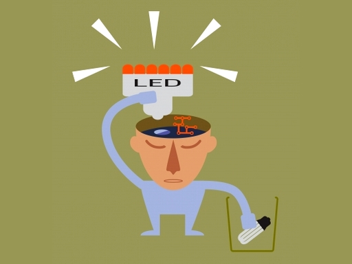 ember a fejében LED-re cseréli az izzót