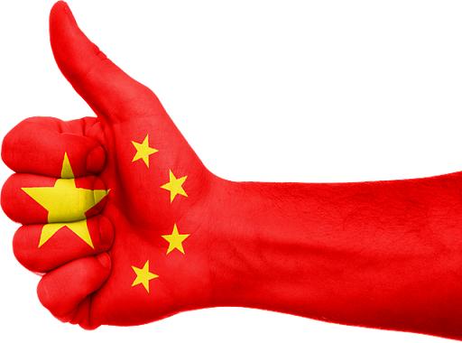 kéz lájkol kínai színekkel