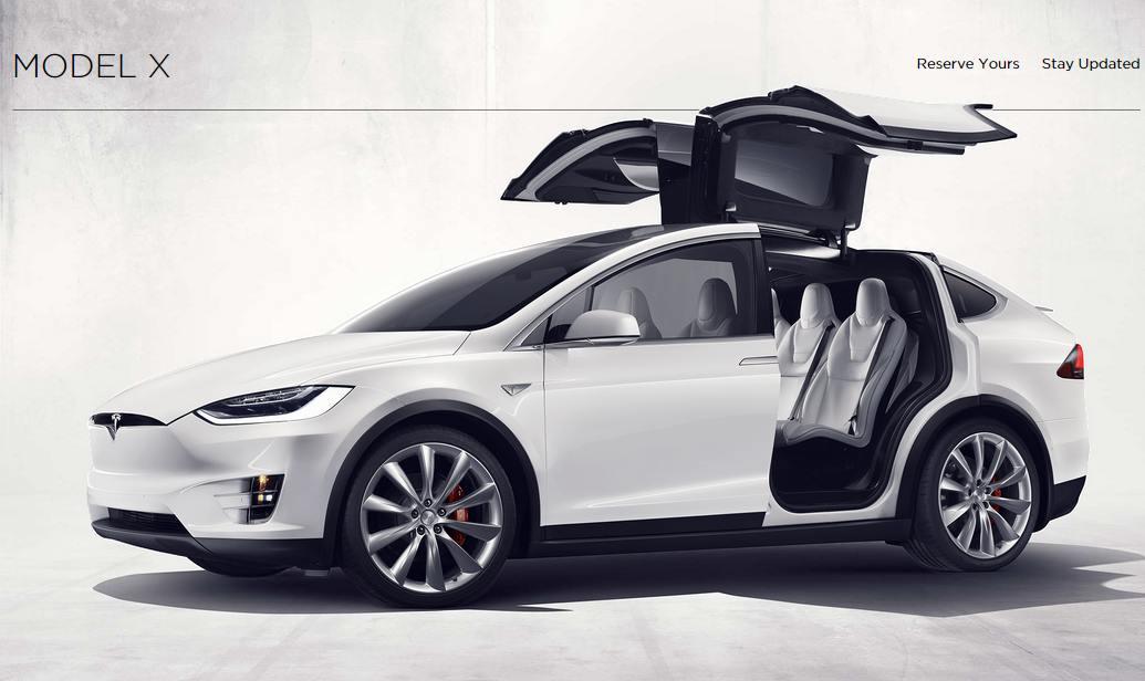 Tesla Motor X (fotó: teslamotors.com)