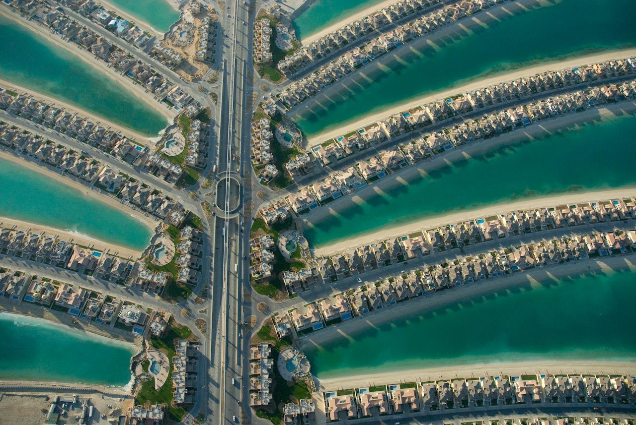Dubai felülnézetből