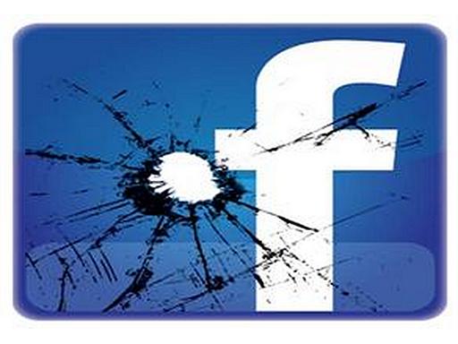 facebook jel törött üveg mögött