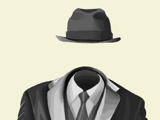 láthatatlan ember kalapban