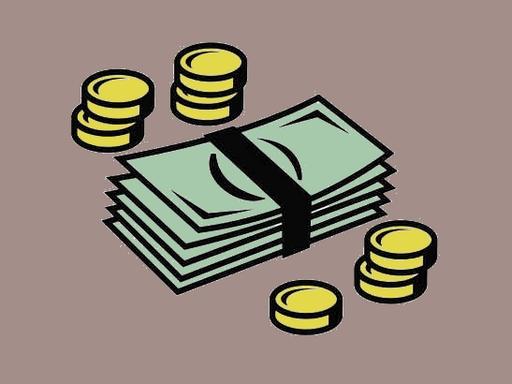 rajzolt pénzköteg