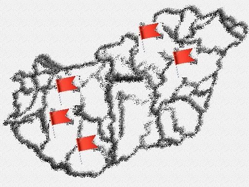 magyar vidék térkép