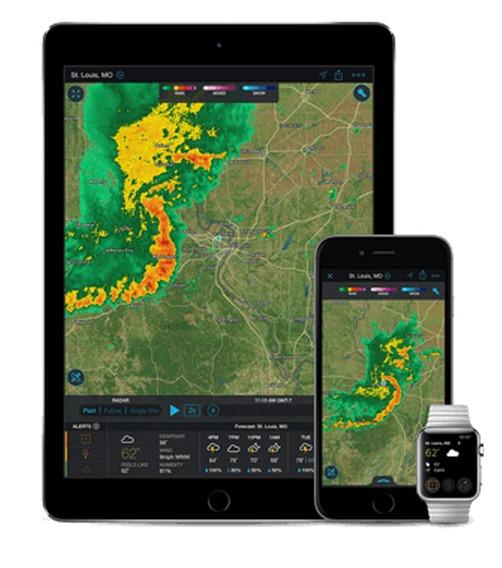 A Weather Channel appje (fotó: https://weather.com/apps)