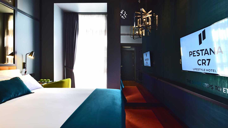 ronaldo hoteljének szobája