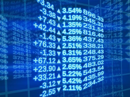 tőzsdei árfolyamok kijelzőn
