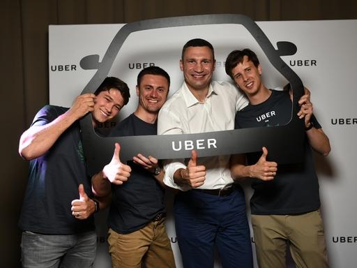 Klicskó az Uber Kijev első utasa