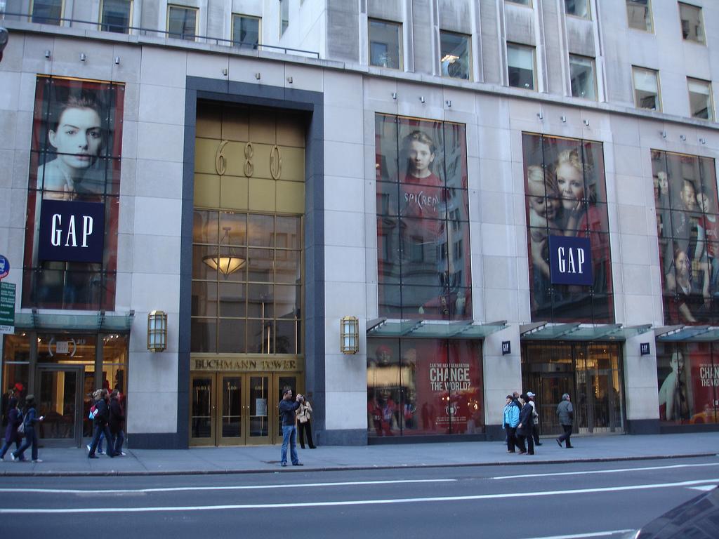 A Gap reklámjai New Yorkban. (fotó: flickr)
