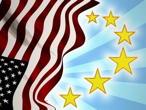 amerikai és uniós zászló