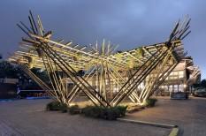 bambusz, dizájn, építészet, fenntartható építészet, kína, ökológiai lábnyom, távol-kelet, zöld építészet