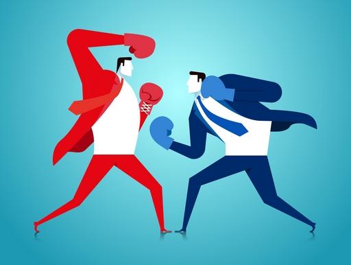 két üzletember küzd egymással