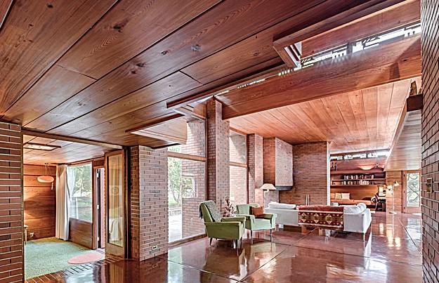 A Frank Lloyd Wright tervezte épület. (fotó: theschwartzhouse.com)