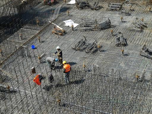 betonozás építkezésen