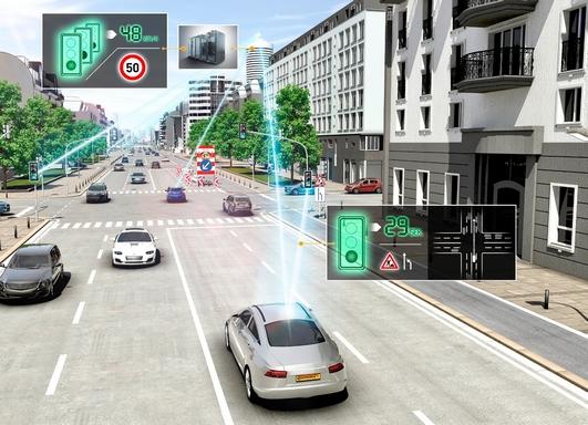 önvezető autókat segítő városi infrastruktúra