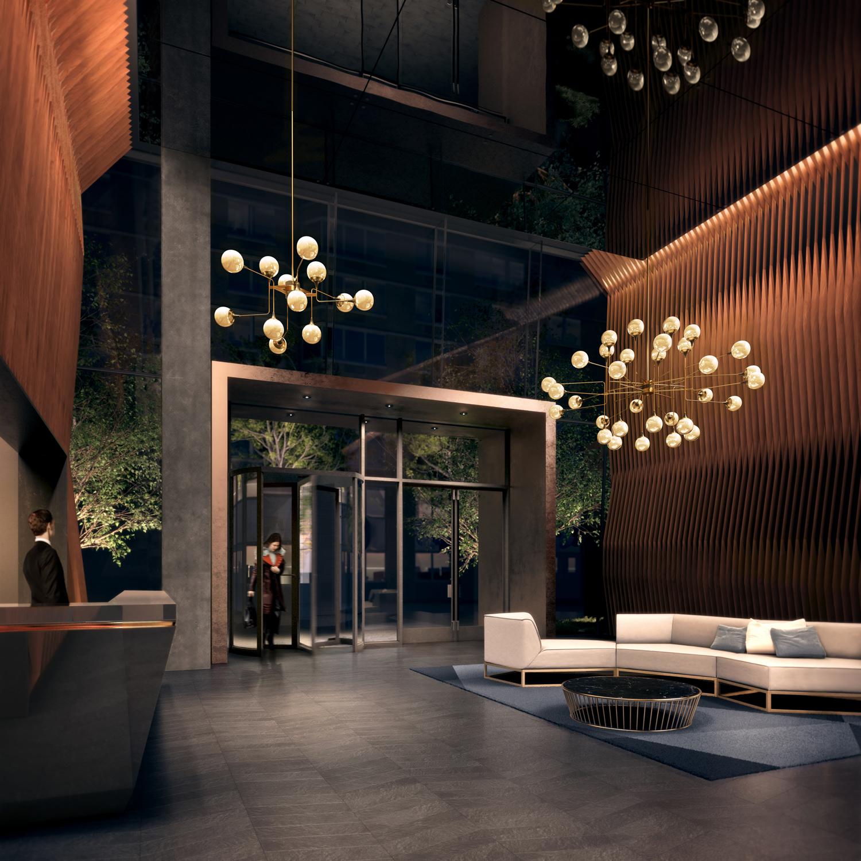 A The American Coppers Building lobbija. (Fotó: jdsdeveloper.com)