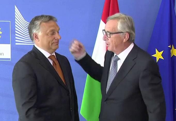 Orbán Viktor és Jean-Claude Juncker
