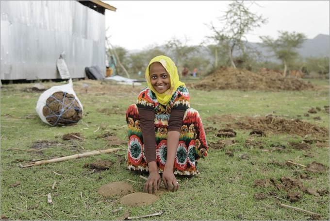Zinetemam Aden el akarta hagyni etióp szülőföldjét, ám maradt és most a FAO egy szarvasmarha-nevelő projektjében dolgozik. Kép: ©FAO/Tamiru Legesse