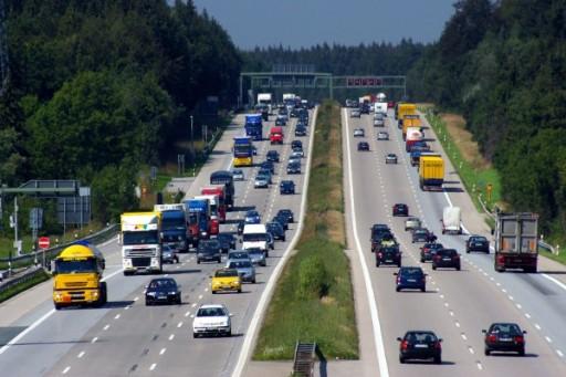 Zsúfolt német autópálya, Kép: wikimedia