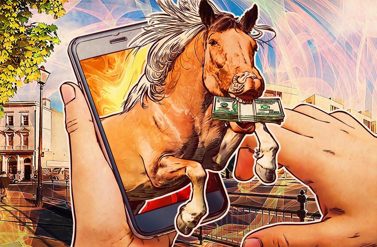 telefonból kiugró ló