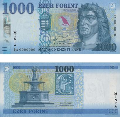 Az új 1000 forintos, Kép: MNB
