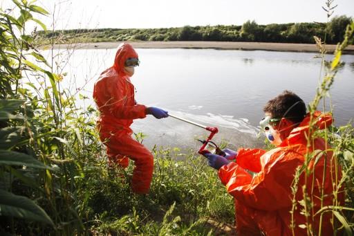 Szennyezés a Szamoson Kép: Greenpeace