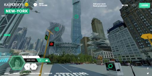 Ilyen lesz New York 2050-ben? Kép: Kasperky Lab