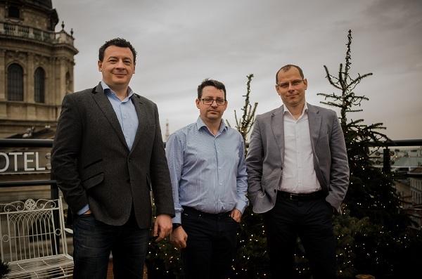 A Balabit vezetői: Györkő Zoltán (b), Scheidler Balázs (k) Wagner Endre (j)