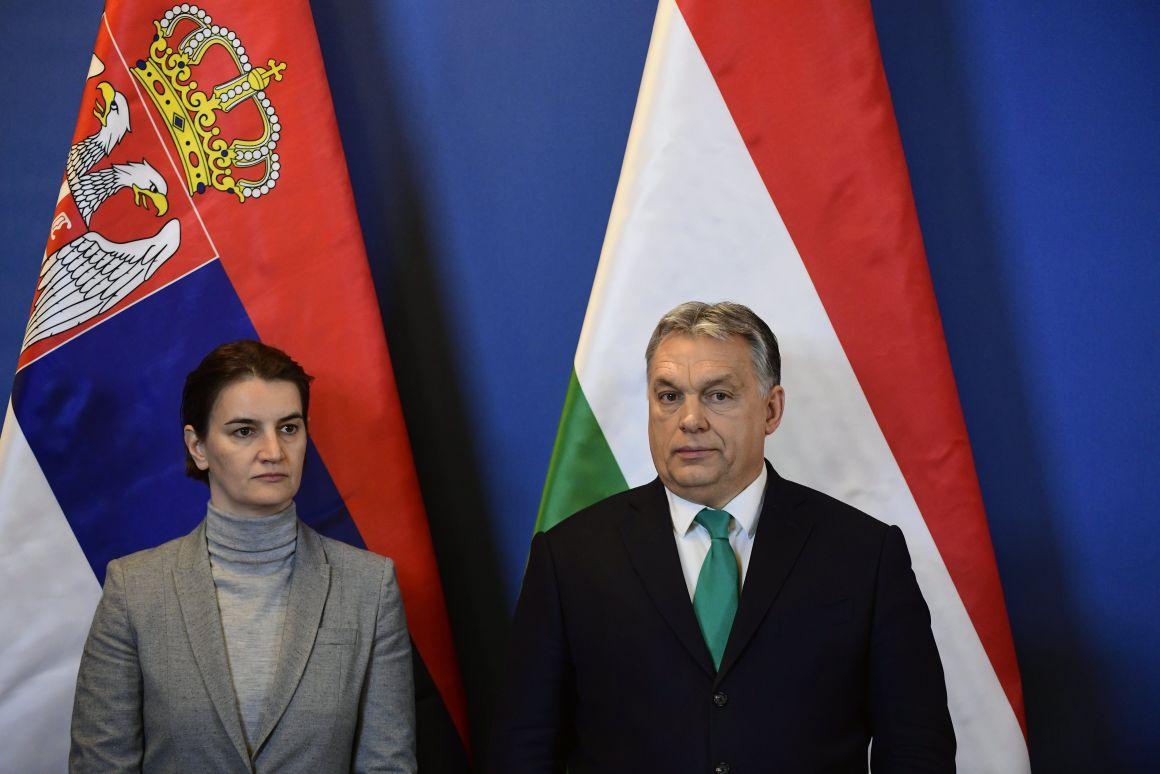 Ana Brnabic szerb és Orbán Viktor magyar miniszterelnök - Fotó: Szigetváry Zsolt/MTI/MTVA